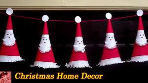 <b>Christmas Decorations</b> Ideas   DIY Easy <b>Santa Claus</b> Garland ...