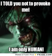 I TOLD you not to provoke me!... - Provoked Meme Generator Captionator via Relatably.com