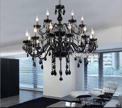 black chandelier lighting. black murano glass crystal chandelier light modern chandeliers restaurant candle ball contemporary lighting