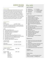 security guard cv sample security guard sample resume