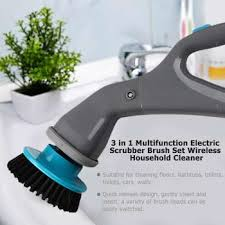 3 in 1 <b>Multifunction Electric</b> Scrubber <b>Brush</b> Set <b>Wireless</b> Household ...