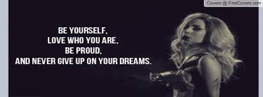 Lady Gaga Quote Facebook Profile Cover #537186