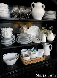 ideas china hutch decor pinterest: makes me think about going white with the dishes i bet grandma has some decorating