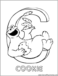 Small Picture Alphabets Sesamestreet Coloring Pages Free Printable Colouring