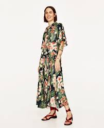Image 1 of <b>LONG FLORAL</b> PRINT SHIRT DRESS from Zara | <b>Floral</b> ...