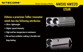 Free Shipping 1pc <b>Nitecore NWS10 Titanium</b> Emergency Whistle ...