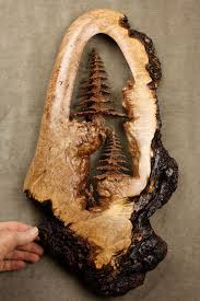 tree wood carving wall art out of one piece by gary burns https artistic wood pieces design