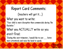 math worksheet   ms ware s english  g blog report card example   Report Card Comments Pinterest