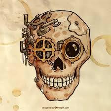 Premium Vector | <b>Hand painted steampunk</b> cranium