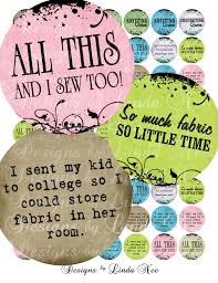 NEW Knitting and Sewing Quotes 1 inch round by DesignsbyLindaNee via Relatably.com