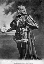 hamlet sarah bernhardt as hamlet yorick s skull photographer james lafayette c 1885 1900
