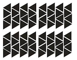 YOYOYU Wall Decor 64 pieces Removable triangles ... - Amazon.com