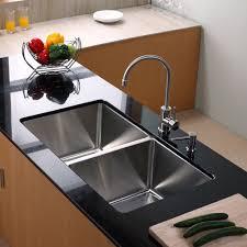undermount kitchen sink stainless steel: kraus  inch undermount double bowl  gauge stainless steel kitchen sink with kitchen bar faucet