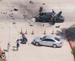 gunmen shot outside a prophet muhammad cartoon contest in garland an aerial view shows the area around a car that was used the previous night by