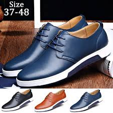 Fashion Casual <b>Men Shoes Flat Shoes</b> Leather <b>Shoes Plus</b> Size 37 ...