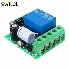 100M DC 12V 10A 1Ch <b>Wireless</b> Relay RF Remote <b>Control</b> Switch ...