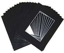 10 of 20x24 Black Pre-cut Acid-free whitecore mat for ... - Amazon.com