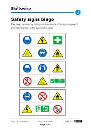 jocons e w safety signs bingo x jpg construction worksheet preview