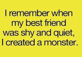 Best Friend was shy.. I remember when my Best... via Relatably.com
