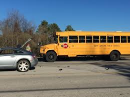 parkwood elementary school bus in 2 car accident