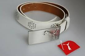 <b>3cm Wide</b> Puma Men's Golf Small Studded 18 Hole Leather Belt 28 ...