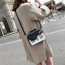 Cute Piano Pattern <b>Fashion Pu</b> Leather Casual Ladies Handbag ...