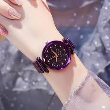 Luxury <b>Women Watches Ladies Magnetic</b> Starry Sky Clock Fashion ...