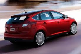 Dark Red Ford Focus