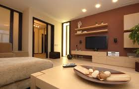 room paint modern tv wall  modern decor living room with dark furniture sets image