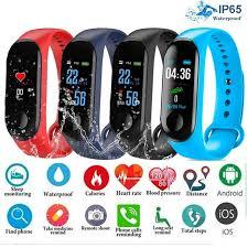 <b>Men Smart Sports watch</b> blood pressure heart rate monitor message ...