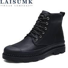 <b>LAISUMK Leather Men</b> Boots Spring Autumn And Winter <b>Man</b> Shoes ...