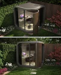 i just love this idea for an office an office pod that fits in the backyard office pod cuts