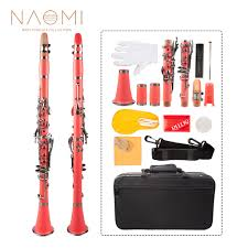 <b>Naomi</b> Professional Bb Clarinet ABS <b>17 Key</b> Cupronickel Plated ...