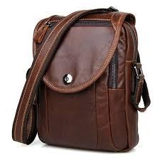 US $63.99 |<b>JMD Genuine Tanned Leather</b> Men's Sling Bag Small ...