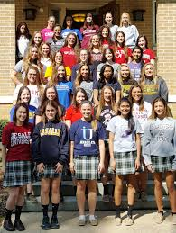 college financial planning resources our lady of mercy academy photo of students in college sweatshirts
