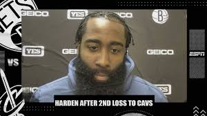 <b>James Harden</b> reacts to 2nd straight loss for Nets vs. Cavs | NBA on ...