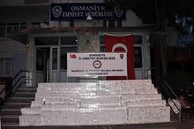 Osmaniye'de 103 bin paket kaçak sigara ele geçirildi