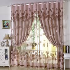 finel sheer tulle curtain panels modern luxury modern leaves designer curtain tulle window sheer curtain set f