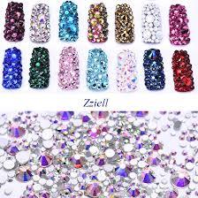 Zziell DIY <b>Crystal</b> Emerald <b>SS3 SS30&Mix Size Rhinestones</b> SMC ...