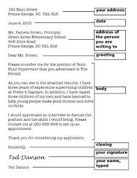 business letter parts worksheet business letter  parts