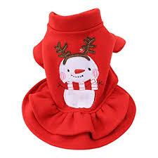 Yihome <b>Pet Clothes</b>, Fashion Snowman Christmas <b>Pet Dress</b> ...
