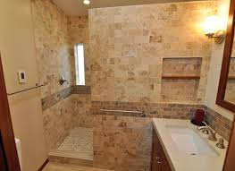 the revisioned bath moved the door about a foot to the left leaving enough space inside the shower ample shower room