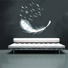 <b>Home Decor</b> DIY Bird Feather Removable Wall Decal Family Home ...