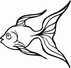 goldfish clipart black and white clipartfest goldfish clip art