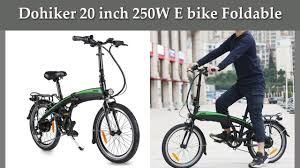 E-Bike: <b>Dohiker</b> 20 inch 250W <b>Foldable electric bike</b> - YouTube