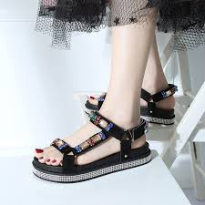 <b>HKJL</b> 2019 <b>summer</b> new fashion <b>sandals</b> south Korean version ...