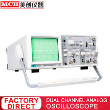 """20Mhz Analog Oscilloscope with 6"""" CRT 2 Channels 2 Tracing Dual ..."""