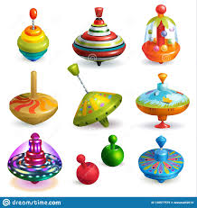 Top Toy Vector Kids <b>Whirligig</b> Humming <b>Spinner</b> And Playing ...