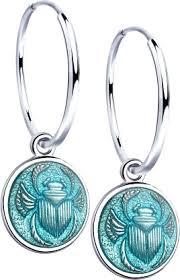 Серебряные <b>серьги</b>-кольца (конго) купить в интернет-магазине ...