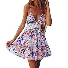 Handyulong Women's Dress Sexy V-Neck Spagheeti ... - Amazon.com